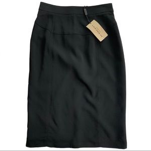 NWT Authentic  Burberry Black Pencil Skirt 🌺